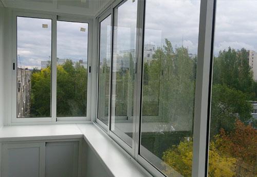 Алюминиевые балконные рамы в Минске
